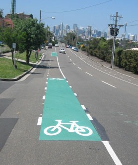 Lilyfield Rd bike lane.